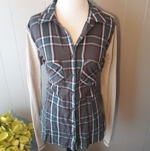 Plaid Maurices top